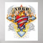 ADHD Cross & Heart Poster