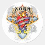 ADHD Cross & Heart Sticker