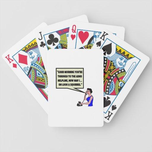 ADHD divertido Baraja Cartas De Poker