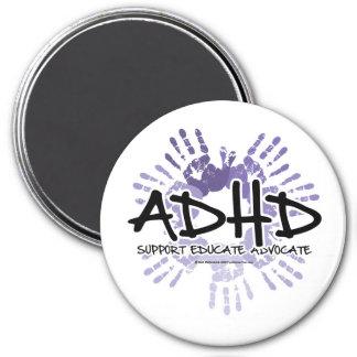 ADHD Handprint Imán Redondo 7 Cm