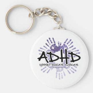 ADHD Handprint Llavero Redondo Tipo Pin
