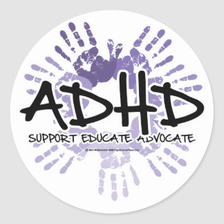 ADHD Handprint Stickers