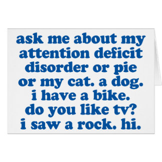 ADHD Humor Quote Card