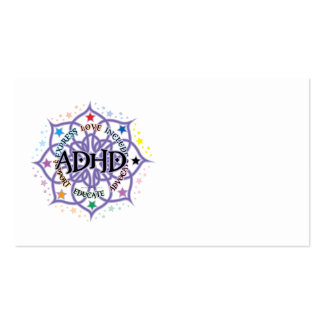 ADHD Lotus Tribal Business Card Templates