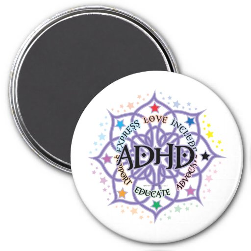 ADHD Lotus tribal Imán De Nevera