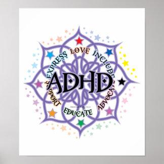 ADHD Lotus tribal Póster