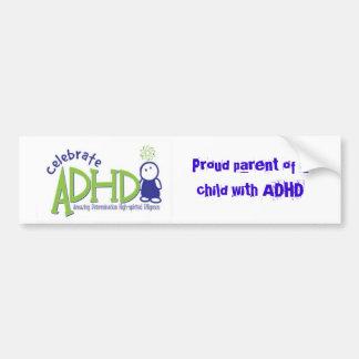 adhd, padre orgulloso de un niño con ADHD Pegatina Para Auto