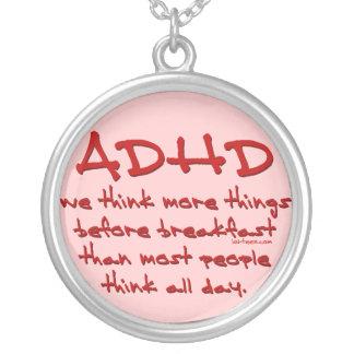 ADHD piensan más Colgante Redondo