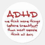 ADHD piensan más Etiquetas
