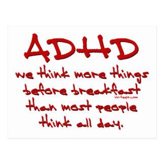 ADHD piensan más Tarjetas Postales