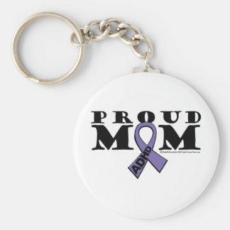 ADHD Proud Mom Basic Round Button Keychain