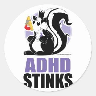 ADHD Stinks Classic Round Sticker