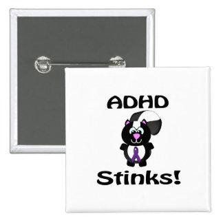 ADHD Stinks Skunk Awareness Design Pins