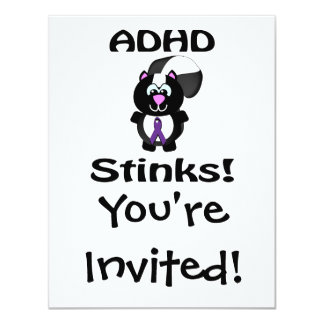 ADHD  Stinks Skunk Awareness Design Card