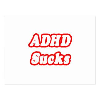 ADHD Sucks Post Card