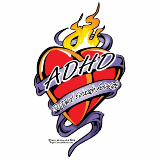 adhd tattoo heart photo sculptures zazzle. Black Bedroom Furniture Sets. Home Design Ideas