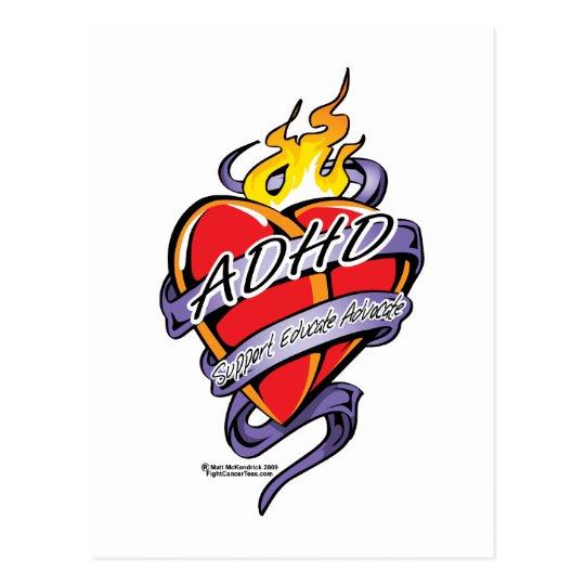 ADHD Tattoo Heart Postcard