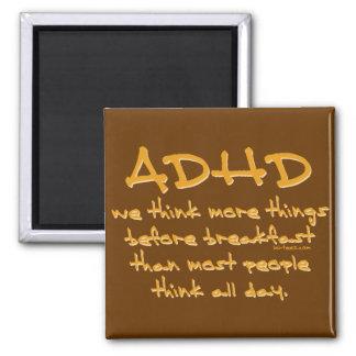 ADHD Think More Fridge Magnets