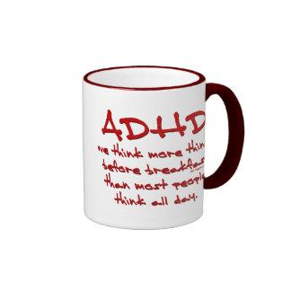 ADHD Think More Ringer Coffee Mug