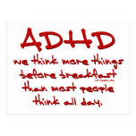 ADHD Think More Postcards