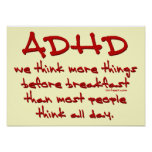 ADHD Think More Poster