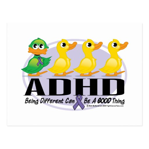 ADHD Ugly Duckling Postcards