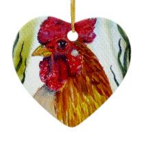 adHeadCock8x10.jpg Ceramic Ornament