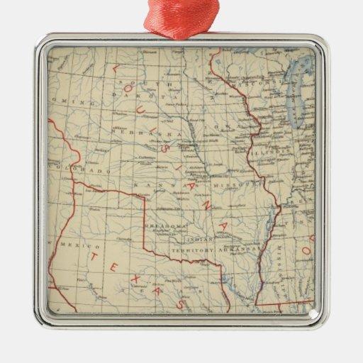 Adhesiones 1 del territorio 2 adorno navideño cuadrado de metal