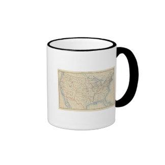Adhesiones 1 del territorio 2 tazas de café