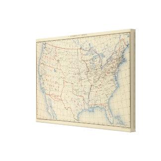 Adhesiones 1 del territorio impresión en lienzo estirada