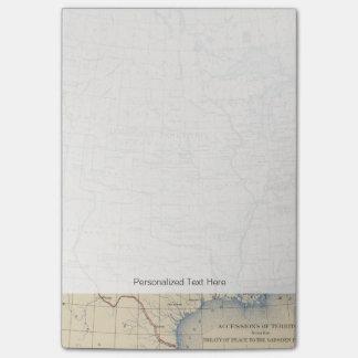 Adhesiones 1 del territorio nota post-it