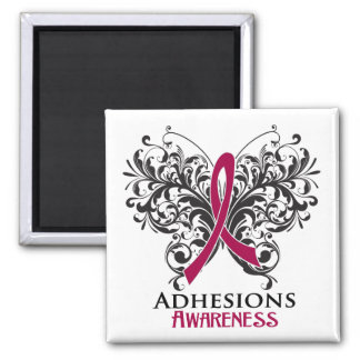 Adhesions Awareness Butterfly Magnet