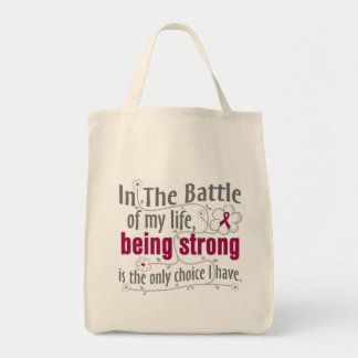 Adhesions In The Battle Grocery Tote Bag