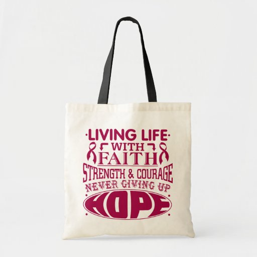 Adhesions Living Life with Faith Canvas Bag