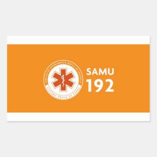 Adhesive 192 Logomarca SAMU - deep orange Rectangular Sticker
