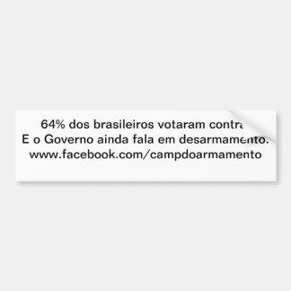 Adhesive 64% of the Brazilians Bumper Sticker