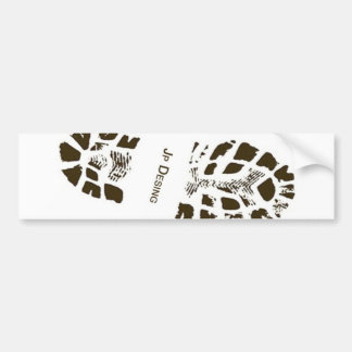 Adhesive Black Footprint Bumper Sticker