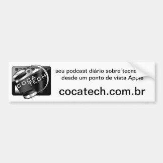 Adhesive CocaTech Podcast Bumper Sticker