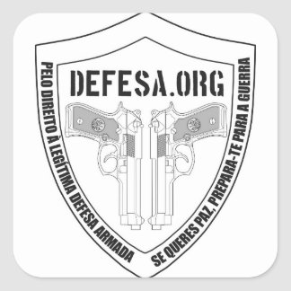 Adhesive DEFESA.ORG Soon Square Sticker
