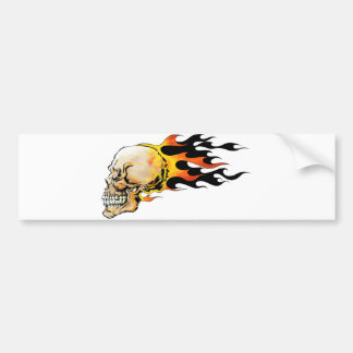 "Adhesive for car ""Skull in flames "" Bumper Sticker"