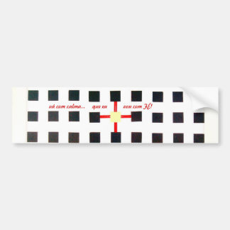 Adhesive for cars, with design geometric bumper sticker