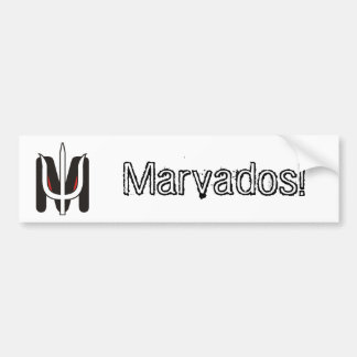 Adhesive for Marvados cars! Bumper Sticker