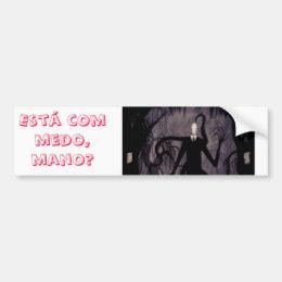 Adhesive for Slenderman car Bumper Sticker