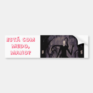 Adhesive for Slenderman car Bumper Sticker