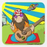 adhesive hippie stickers