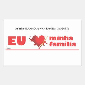 Adhesive I love my family Rectangular Sticker