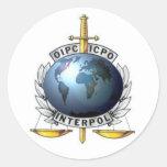 Adhesive Interpol Classic Round Sticker