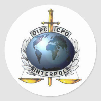 Adhesive Interpol Classic Round Sticker