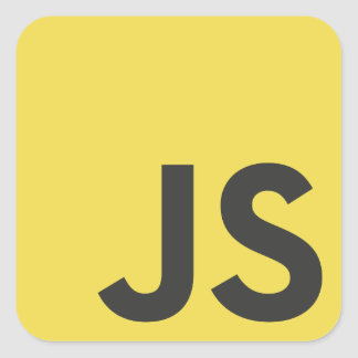Adhesive Javascript Square Sticker