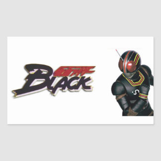 Adhesive Kamen Rider BLACK Rectangular Sticker
